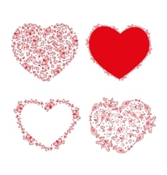 Set of stencil hearts for design vector