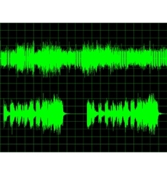 Abstract digital sound wave background vector
