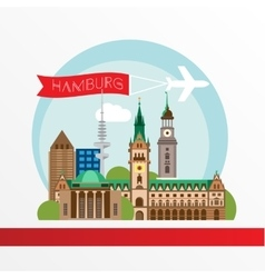 Hamburg detailed silhouette trendy vector