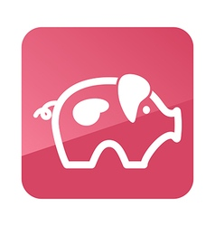 Pig icon farm animal vector