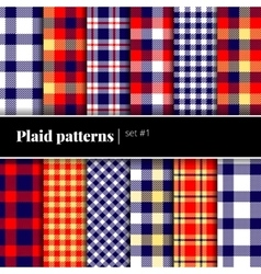 Set of plaid patterns see also other sets vector