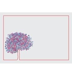 Spring flowering tree vector image