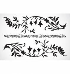 floral pieces vector image