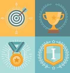 achievement badges vector image