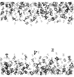 Alphabet Background in black A vector image