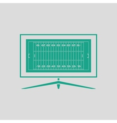 American football tv icon vector image