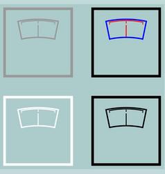 bathroom scale grey black white icon vector image
