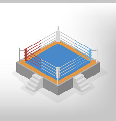 Boxing ring is an isometric vector