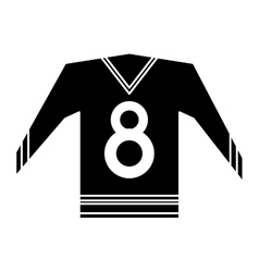 Canadian jersey hockey ice graphic pictogram vector