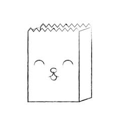 Cartoon paper bag shop kawaii image vector