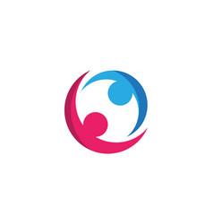 community icon design template vector image