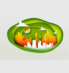 Concept of eco city vector