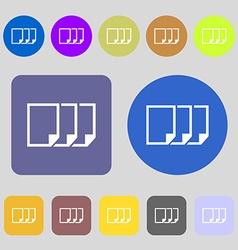 Copy file sign icon duplicate document symbol 12 vector