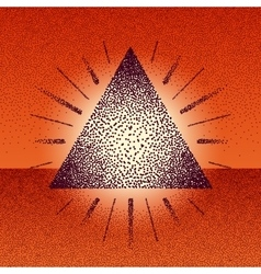 Dotwork raster triangle with rays vector