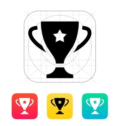 Favorite cup icon vector