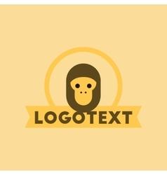 flat icon on background monkey logo vector image vector image