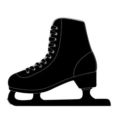 ice skate black silhouette icon vector image
