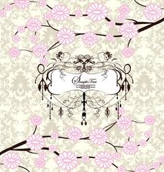 Invitation or wedding card vector