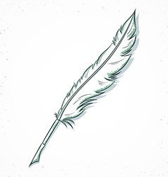 Isolated doodle fountain pen handmade in sketch vector image vector image