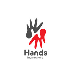 letter h hands care logo vector image