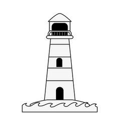lighthouse navigation symbol vector image vector image
