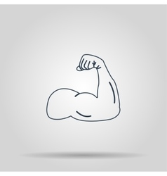 Muscle icon concept for vector