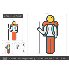 Outdoor activity line icon vector