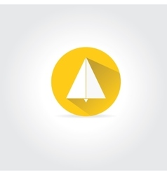 Paper plane icon with long shadow vector