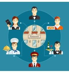 Restaurant service vector image