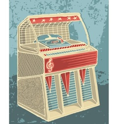 Retro jukebox sketch vector