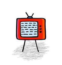 Retro TV vector image