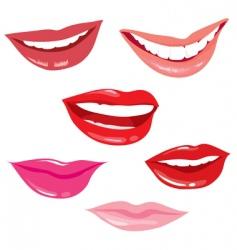 Smiling lips vector