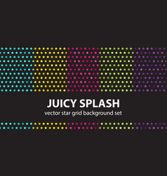 star pattern set juicy splash seamless vector image