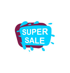 Super sale speech bubble for retail promotion vector