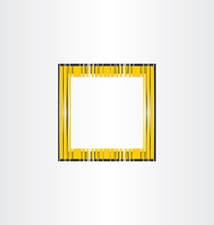 Yellow decorative frame background vector