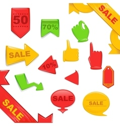 Sale stickers and banners templates set vector