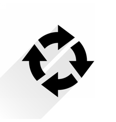 Black arrow icon rotation on white background vector