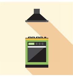 Digital picture green and orange kitchen vector