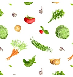 Fresh Vegetables Seamless Pattern vector image