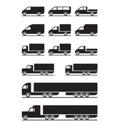 Trucks and pickups vector