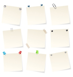 blank notepads vector image