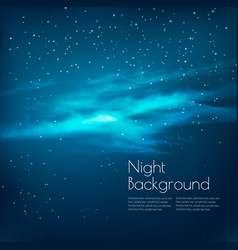 night sky background with clouds and stars vector image