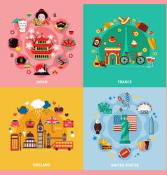 Tourism 2x2 design concept vector