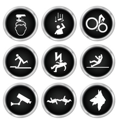 Security and Safety icons vector image