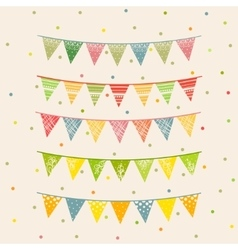 Party pennant bunting party seamless background vector