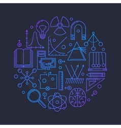 Physics glossy vector