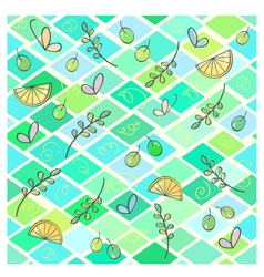 Seamless pattern with leaves and butterflies vector