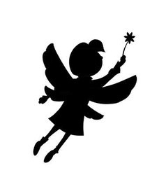 Girl flutters its wings flying in the air vector