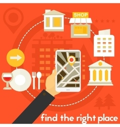 Find the right place concept vector