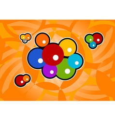 abstract orange background with color bubble vector image vector image
